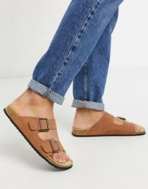 ASOS DESIGN - Sandalen in lichtbruin