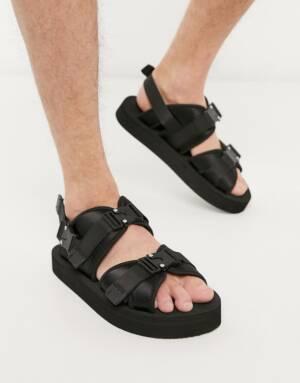 ASOS WHITE - Sandalen met gesp-Zwart