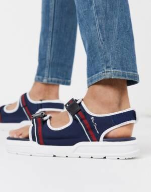 Ben Sherman - Sandalen met dikke zool in marineblauw