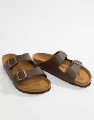 Birkenstock - Arizona - Birko-flor sandalen in donkerbruin