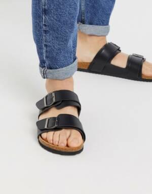 Brave Soul - Sandalen met dubbele bandjes in zwart