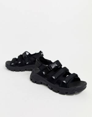 Caterpillar - Progressor - Suède sandalen in zwart-Multi