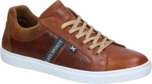 Cognac Lage Sneakers Scapa Heren 46
