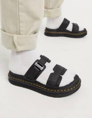 Dr Martens - Chiltern - Sandalen met band van zwart leer