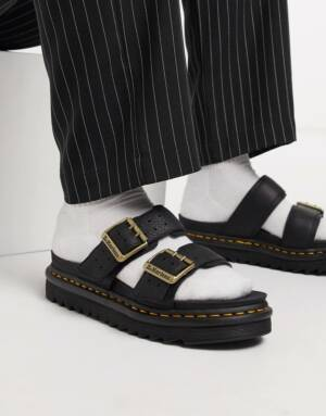 Dr Martens - Myles ii - Sandalen met twee banden in zwart