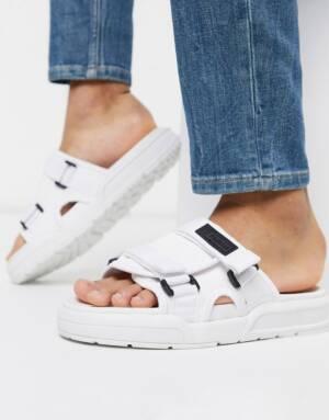 Farah - Sandalen met dikke zool en twee gespen in wit