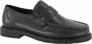 Gallus Heren Zwarte leren geklede instapper - Maat 46