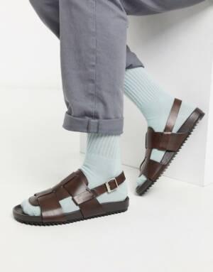 Grenson - Wiley - Leren sandalen in lichtbruin