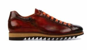 Harris Heren Sneakers in Leder (Cognac)