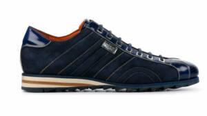 Harris Heren Sneakers in Suede (Blauw)