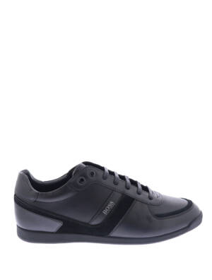 Hugo Boss Glaze Lowp Leather Black Sneakers lage-sneakers