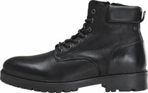 JACK&JONES FOOTWEAR - Hounslow Leather - Bottines gekleed - Heren - Maat 46 - Zwart;Zwarte - Anthracite