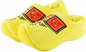 Klomppantoffels geel / Klompsloffen / Gele sloffen voor dames en heren - Maat: 45-47