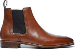 Manfield - Heren - Cognac chelsea boots - Maat 46