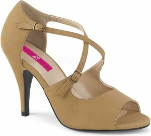 Pleaser Hoge hakken -46 Shoes- DREAM-412 US 15 Beige/Creme