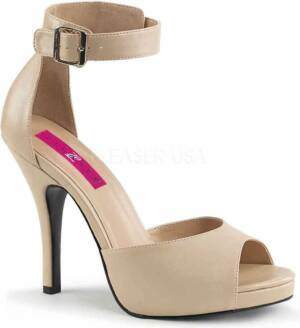Pleaser Hoge hakken -47 Shoes- EVE-02 US 16 Creme