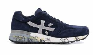Premiata Heren Sneakers in Suede (Blauw)