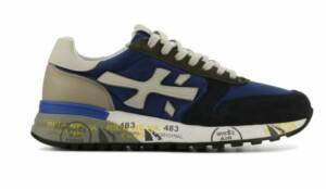 Premiata Heren Sneakers in Suede (Blauw)