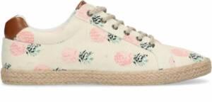 Sacha - Heren - Beige schoenen met print en rieten zool - Maat 46