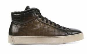 Santoni Heren Sneakers in Leder (Bruin)