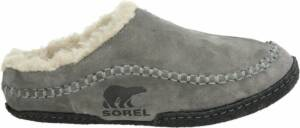 Sorel Falcon Ridge Heren Sloffen - Quarry, Black - Maat 46