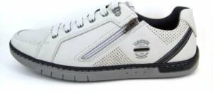Stravers - Maat 50 Trendy Sneakers Heren Beige met Rits Grote Maten