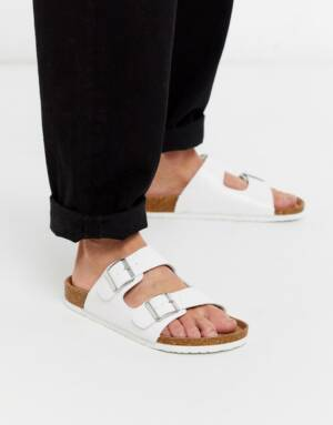 Truffle Collection - Sandalen met dubbele band in wit