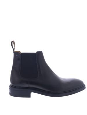 Van Bommel 10196 Black Leather G+ Wijdte Boots chelsea-boots