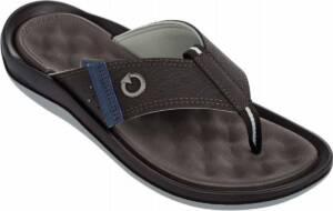 Cartago heren slippers - maat 47 - santorini - bruin grijs