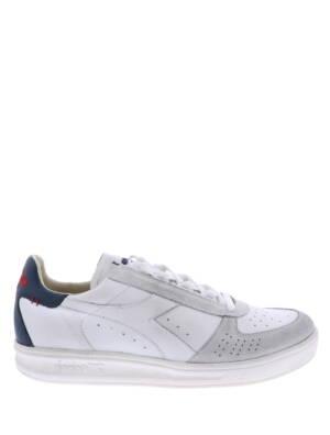 Diadora B. Elite Dirty White Blue Sneakers lage-sneakers