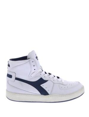 Diadora Mi Basket Used White Corsair Sneakers hoge-sneakers