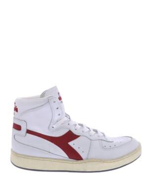 Diadora Mi Basket Used White Garnet Sneakers hoge-sneakers