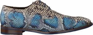 Floris Van Bommel Heren Nette schoenen 18224 - Blauw - Maat 48