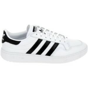 Lage Sneakers Bensimon ADIDAS Team Court Blanc Noir Blanc