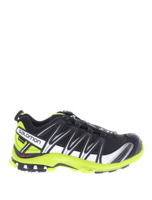 Salomon XA Pro 3D GTX Black Lime Green White Sneakers lage-sneakers