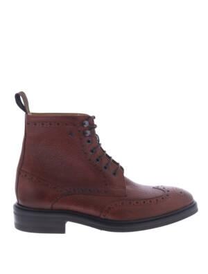 Van Bommel 10165 Dark Cognac G+ Wijdte Boots veter-boots