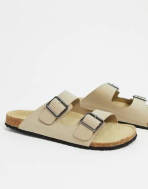 ASOS DESIGN - Sandalen in kiezelkleur-Kiezelkleurig