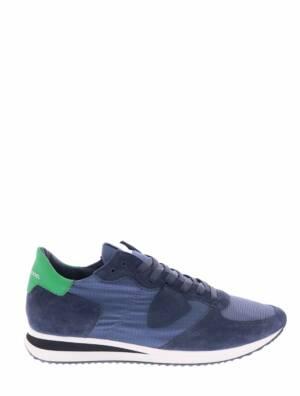 Philippe Model TZLU TRPX Mondial Gomme Blue Vert Sneakers lage-sneakers