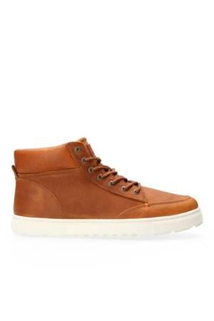 Glascow Hoge Sneaker Leer