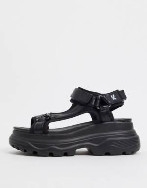 Koi Footwear - Sandalen met dikke zool in zwart
