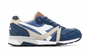 Diadora Heritage Heren Sneakers in Leder (Blauw)