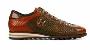 Harris Heren Sneakers in Leder (Taupe)
