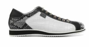 Harris Heren Sneakers in Leder (Wit)