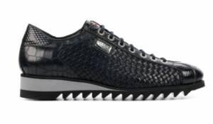 Harris Heren Sneakers in Leder (Zwart)