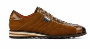 Harris Heren Sneakers in Suede (Cognac)