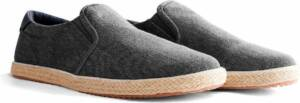 NoGRZ F.Gehry - Heren canvas slip-on sneakers - Instappers - Grijs - Maat 46
