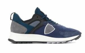 Philippe Model Heren Sneakers in Stof (Blauw)