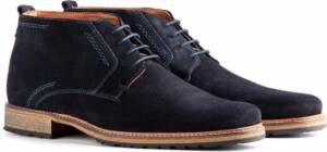 Travelin London Suède - Halfhoge veterschoen - Donkerblauw - Maat 49