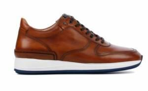 Van Bommel Heren Sneakers in Leder (Cognac)