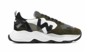 Womsh Heren Sneakers in Stof (Groen)